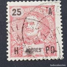 Sellos: AZORES AÇORES, 1906, CARLOS I, AFINSA 100, YVERT 102, SCOTT 105, USADO, ( LOTE AR ). Lote 206434181