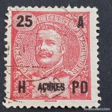 Sellos: AZORES AÇORES, 1906, CARLOS I, AFINSA 100, YVERT 102, SCOTT 105, USADO, ( LOTE AR ). Lote 206434518