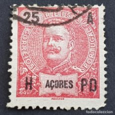 Sellos: AZORES AÇORES, 1906, CARLOS I, AFINSA 100, YVERT 102, SCOTT 105, USADO, ( LOTE AR ). Lote 206434533