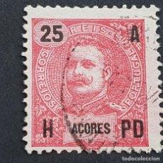 Sellos: AZORES AÇORES, 1906, CARLOS I, AFINSA 100, YVERT 102, SCOTT 105, USADO, ( LOTE AR ). Lote 206434538