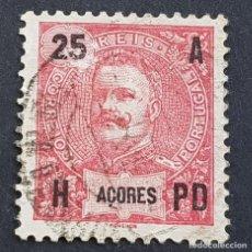 Sellos: AZORES AÇORES, 1906, CARLOS I, AFINSA 100, YVERT 102, SCOTT 105, USADO, ( LOTE AR ). Lote 206434558