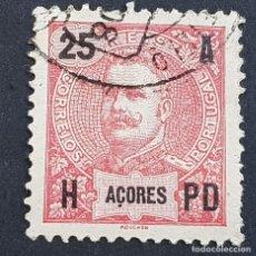 Sellos: AZORES AÇORES, 1906, CARLOS I, AFINSA 100, YVERT 102, SCOTT 105, USADO, ( LOTE AR ). Lote 206434585