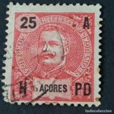 Sellos: AZORES AÇORES, 1906, CARLOS I, AFINSA 100, YVERT 102, SCOTT 105, USADO LEER, ( LOTE AR ). Lote 206436312