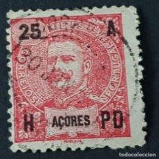 Sellos: AZORES AÇORES, 1906, CARLOS I, AFINSA 100, YVERT 102, SCOTT 105, USADO, ( LOTE AR ). Lote 206436481