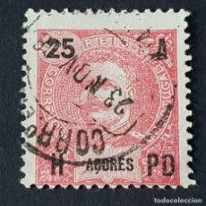 Sellos: AZORES AÇORES, 1906, CARLOS I, AFINSA 100, YVERT 102, SCOTT 105, USADO, ( LOTE AR ). Lote 206436570