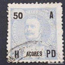 Sellos: AZORES AÇORES, 1906, CARLOS I, AFINSA 101, YVERT 103, SCOTT 106, USADO, ( LOTE AR ). Lote 206441872