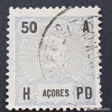 Sellos: AZORES AÇORES, 1906, CARLOS I, AFINSA 101, YVERT 103, SCOTT 106, USADO, ( LOTE AR ). Lote 206441990