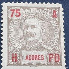 Sellos: AZORES AÇORES, 1906, CARLOS I, AFINSA 102*, YVERT 104*, SCOTT 107*, NUEVO, FIJASELLO, ( LOTE AR ). Lote 206443230