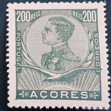 Sellos: AZORES AÇORES, 1910, MANUEL II, AFINSA 117*, YVERT 119*, SCOTT 122*, FIJASELLO, ( LOTE AR ). Lote 206522578
