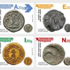 Sellos: PORTUGAL 2020 - PORTUGUESE NUMISMATICS - 1ST GROUP - SELF-ADHESIVE STAMPS. Lote 206801470