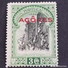 Sellos: AZORES, AÇORES,1927, INDEPENDENCIA PORTUGAL 3ª EMISIÓN, AFINSA 267*, YVERT 284*, FIJASE, ( LOTE AR ). Lote 207370495