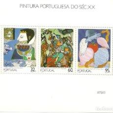 Sellos: PORTUGAL , HOJA BLOQUE 1990 PINTURA SIGLO XX IVERT 74. Lote 210449717