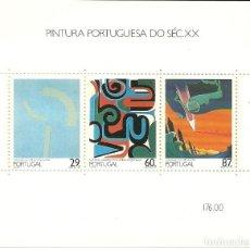 Sellos: PORTUGAL , HOJA BLOQUE 1989 PINTURA SIGLO XX IVERT 68. Lote 210449835