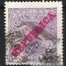 Sellos: PORTUGAL 1910 - REY MANUEL II, SOBREIMPRESO REPUBLICA - SELLO USADO. Lote 212663238