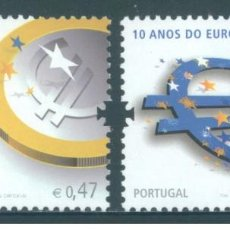 Sellos: PORTUGAL 2009 - THE 10TH ANNIVERSARY OF THE EURO STAMP SET MNHH. Lote 213829980