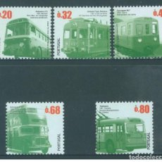 Sellos: PORTUGAL 2009 - URBAN TRANSPORT BETWEEN 1947 AND 1974 STAMP SET MNH. Lote 213829998