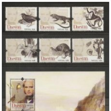 Sellos: PORTUGAL 2009 - THE 200TH ANNIVERSARY OF THE BIRTH OF CHARLES DARWIN STAMP SET MNH. Lote 213830036