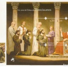 Sellos: PORTUGAL 2009 - THE 800TH ANNIVERSARY OF THE FRANCISCAN ORDER SET MNH. Lote 213830085