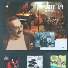 Sellos: PORTUGAL 2009 - JAZZ IN PORTUGAL STAMP SET MNH. Lote 213830365