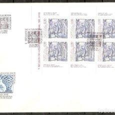 Sellos: PORTUGAL.1983. FDC. YT 1593A. 5 SIGLOS DEL AZULEJO. Lote 216563362