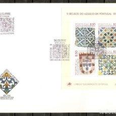 Sellos: PORTUGAL.1981. FDC.HB. YT 34. 5 SIGLOS DEL AZULEJO. Lote 216564510