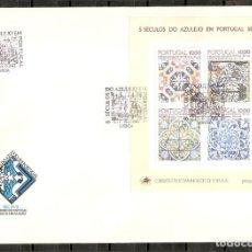 Sellos: PORTUGAL.1982. FDC.HB. YT 39. 5 SIGLOS DEL AZULEJO. Lote 216564566