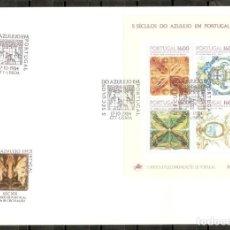 Sellos: PORTUGAL.1984. FDC.HB. YT 47. 5 SIGLOS DEL AZULEJO. Lote 216564656
