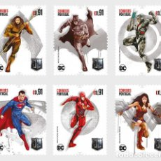 Sellos: PORTUGAL 2020 - JUSTICE LEAGUE STAMP SET MNH. Lote 217704960