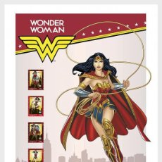 Sellos: PORTUGAL 2020 - PERSONALIZED STAMPS DC COMICS - WONDER WOMAN - COLLECTORS SHEET. Lote 217705618