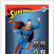 Sellos: PORTUGAL 2020 - PERSONALIZED STAMPS DC COMICS - SUPERMAN - COLLECTORS SHEET. Lote 217705695