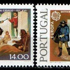 Sellos: PORTUGAL 1979 - HISTORIA CORREOS Y TELECOMUNICACIONES. Lote 217830743