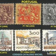 Sellos: PORTUGAL 1953 Y 1972 - LOTE VARIADO (VER IMAGEN) - 6 SELLOS USADOS. Lote 218012668