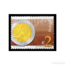Sellos: PORTUGAL 2002. MICHEL 2565, YVERT 2547. MONEDA DE 2 EUROS. USADO. Lote 218543471
