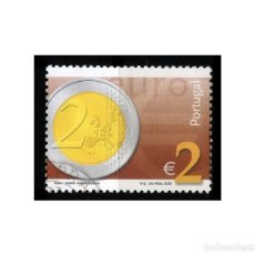 Sellos: PORTUGAL 2002. MICHEL 2565, YVERT 2547. MONEDA DE 2 EUROS. USADO. Lote 218543520