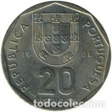 Sellos: 4 MONEDAS DE 20 ESCUDOS PORTUGAL. Lote 218743268