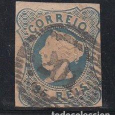 Sellos: PORTUGAL 2 USADA, DOÑA MARIA II, CABEZA EN RELIEVE,. Lote 218807146