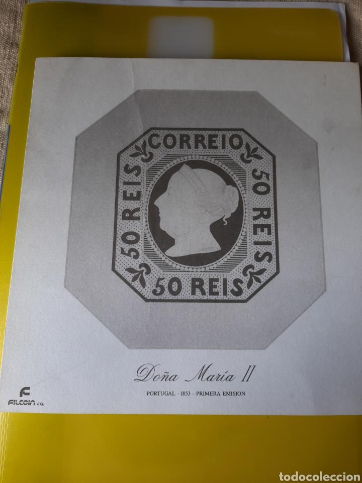 LAMINA PORTUGAL PRIMERA EMISIÓN 1853 SELLO DOÑA MARIA II FILCOIN (Sellos - Extranjero - Europa - Portugal)