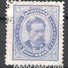Sellos: PORTUGAL. 1887. LUIS I. 500 REIS EN USADO. Lote 220357078
