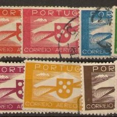Sellos: PORTUGAL AEREOS YVERT 1/10 (º) SERIE COMPLETA EMBLEMA AVIACIÓN 1937/41 NL1644. Lote 221888372