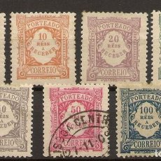 Sellos: PORTUGAL TASAS YVERT 7/13*/(º) SERIE COMPLETA 1904 NL1646. Lote 221892296