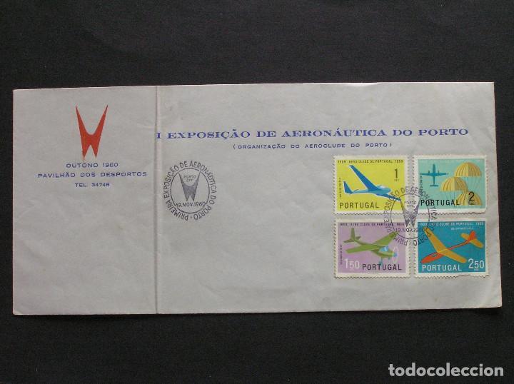 PORTUGAL - SOBRE CONMEMORATIVO DE LA PRIMERA EXPOSICION DE AERONAUTICA DE OPORTO 1960 (Sellos - Extranjero - Europa - Portugal)