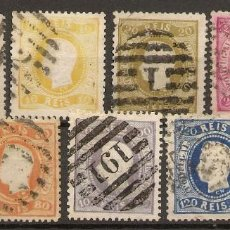Sellos: PORTUGAL YVERT 26/34(º) SERIE COMPLETA LUIS I 1866/1867 NL1064. Lote 222427367