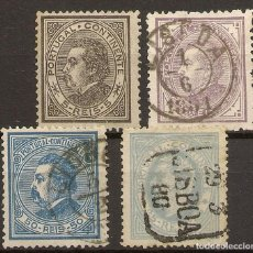 Sellos: PORTUGAL YVERT 51/54 (º) SERIE COMPLETA LUIS I 1880/1881 NL1553. Lote 222432497