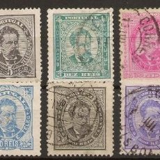 Sellos: PORTUGAL YVERT 55/63 (º) SERIE COMPLETA LUIS I 1882/1887 NL321. Lote 222435265
