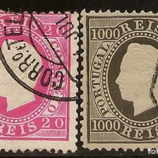 Sellos: PORTUGAL YVERT 64/65 (º) SERIE COMPLETA LUIS I 1884 NL169. Lote 222436423