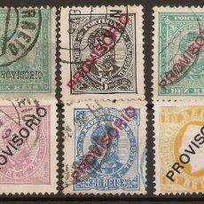Sellos: PORTUGAL YVERT 78/86 (º)/* SERIE COMPLETA CARLOS I 1892/1893 NL328. Lote 222439143