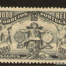 Sellos: PORTUGAL YVERT 108* MH 1000 REIS NEGRO SAGRES 1894 NL1014. Lote 222523335