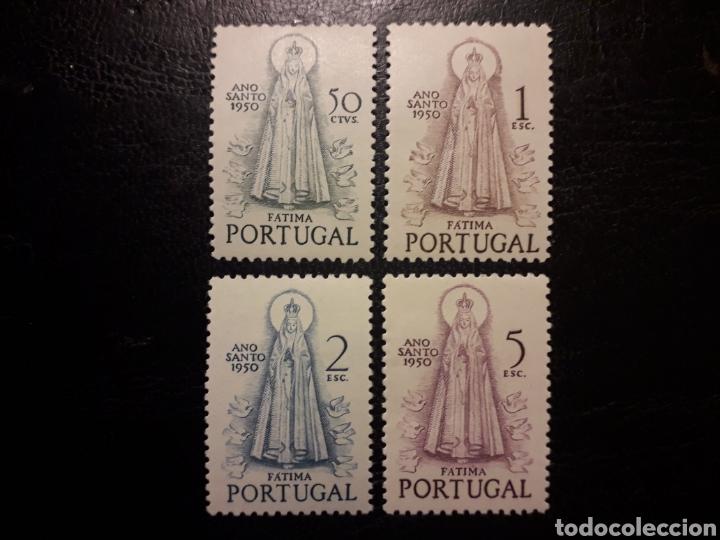PORTUGAL YVERT 730/3 SERIE COMPLETA NUEVA CON CHARNELA 1950. AÑO SANTO. VIRGEN DE FÁTIMA (Sellos - Extranjero - Europa - Portugal)