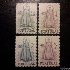 Sellos: PORTUGAL YVERT 730/3 SERIE COMPLETA NUEVA CON CHARNELA 1950. AÑO SANTO. VIRGEN DE FÁTIMA. Lote 227655720