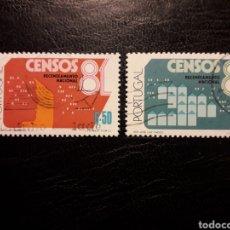Sellos: PORTUGAL YVERT 1492/3 SERIE COMPLETA USADA 1981. CENSO NACIONAL. PEDIDO MÍNIMO 3 EUROS. Lote 227784980